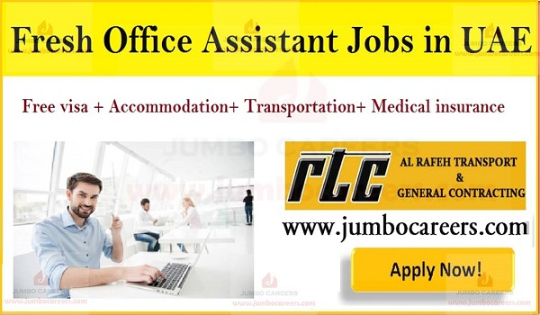 AL Rafeh Transport jobs Abu Dhabi, Latest Office Assistant vacancy in Abu Dhabi