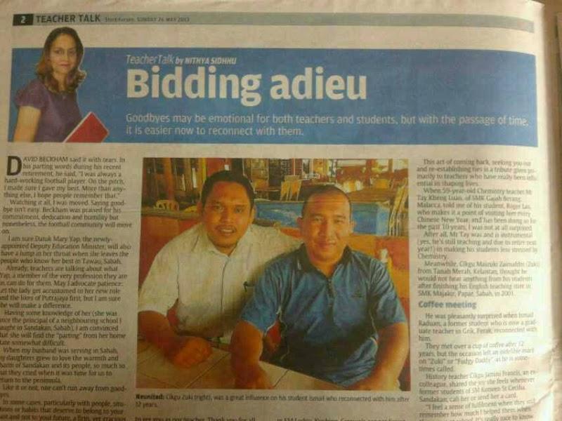 Foto Abam Kie keluar di Sunday Star