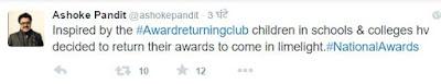 अशोक पंडित के #awardwapsigang ट्वीट3