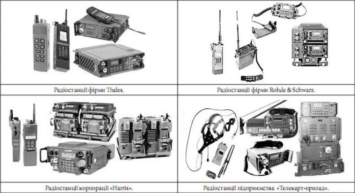 Зразки універсальних радіостанцій різних компаній