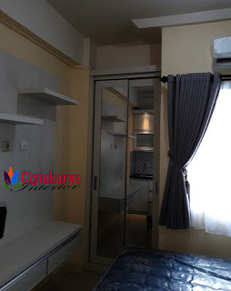 interior-studio-apartemen-green-pramuka-city