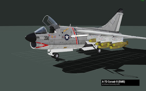 Arma3用ベトナム戦争MODのA-7 Crosair II