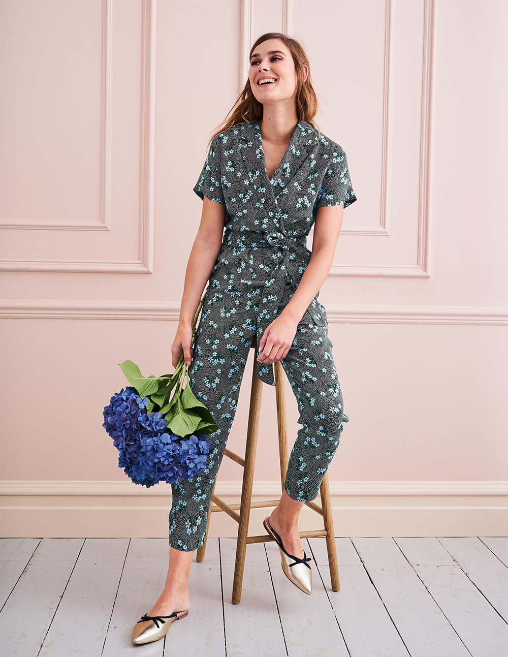 Boden printed Frederica Jumpsuit - UK style blog