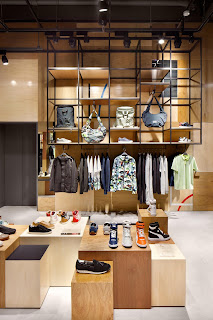 Green Pear Diaries, interiorismo, retail, Puma, Puma Black Label Stores, Beijing, Osaka
