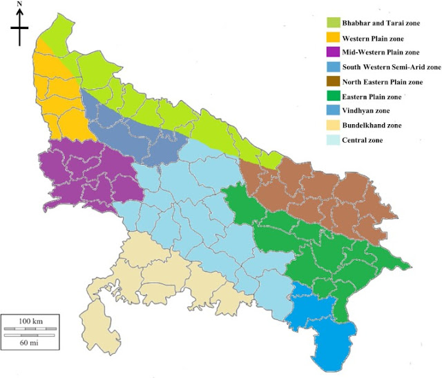 Agroclimatic Zones of Uttar Pradesh