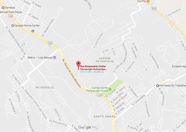 Mapa-Casa, venda, Maceió-AL,Conj. Res. Jardim Petrópolis 1
