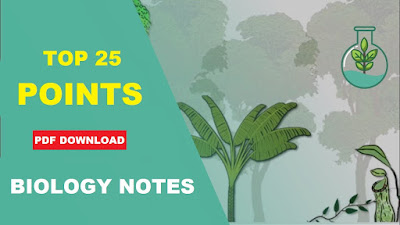 Biology Notes - Top 25 Important Key Points