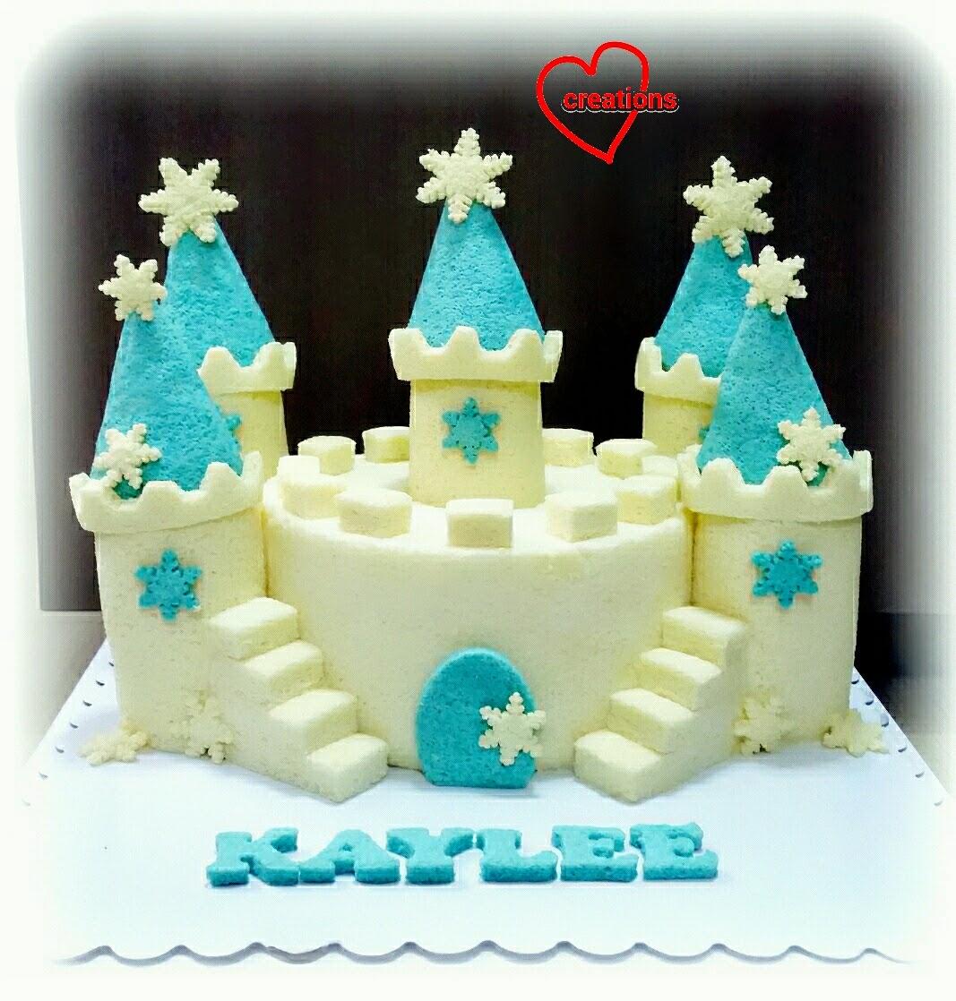 Loving Creations For You Frozen Castle Chiffon Cake Ii