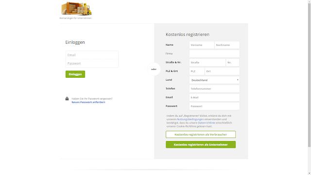 Screenshot: Login-Page Liquidado.de | Kostenlos Registrieren | Stand 24.11.2016
