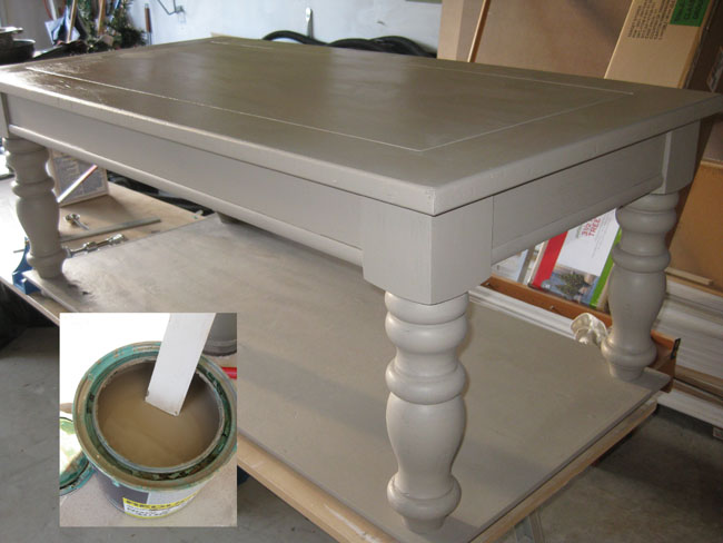 opps paint cappuccino color for whitewash effect