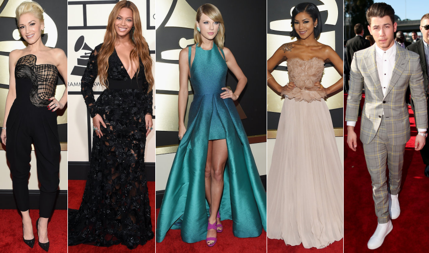 gwen beyonce taylor jhene nick red carpet grammys best dressed 2015