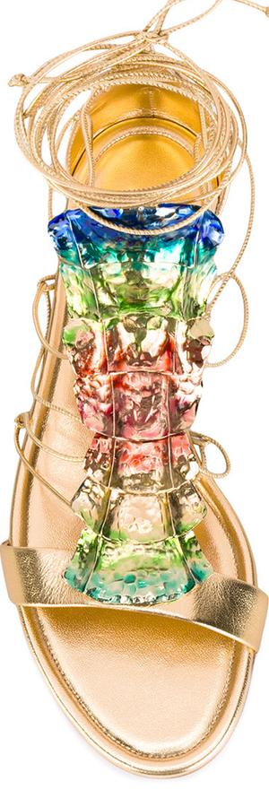 CASADEI Embellished Flat Sandal