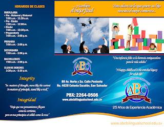 Brochure Escuela Bilingüe ABC Bilingual School Diseño Gráfico Freelance