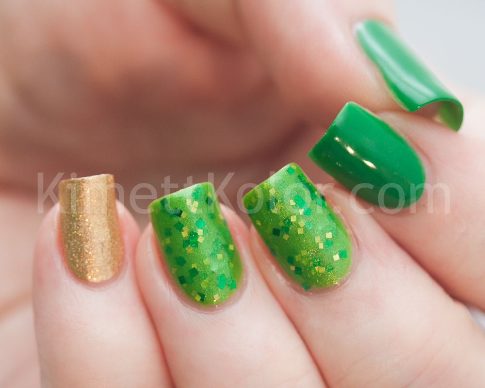 KimettKolor Saint Patricks Day Lucky13 Nail Polish