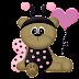 Ladybug Dress Bears Clip Art.