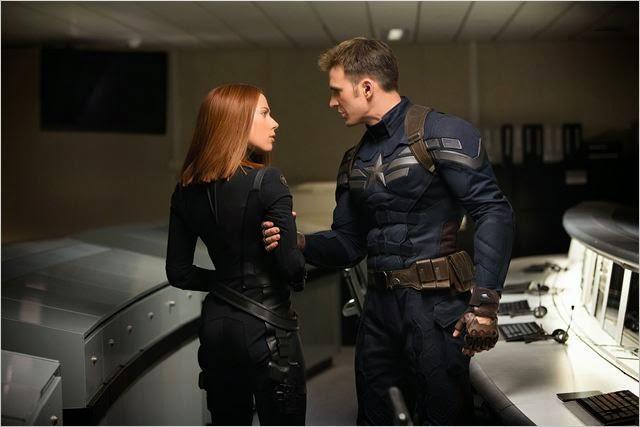 """El Capitán América y la Viuda Negra en """"El Soldado de Invierno"""""""