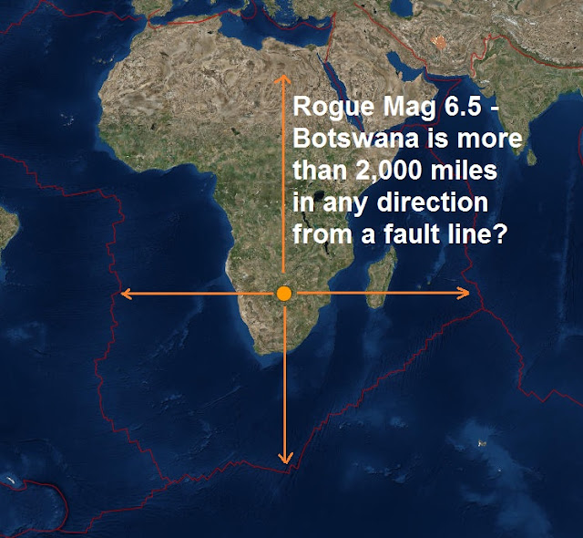 The Rogue Magnitude 6.5 in Botswana struck in an area more than 2,000 miles from a fault line Untitled