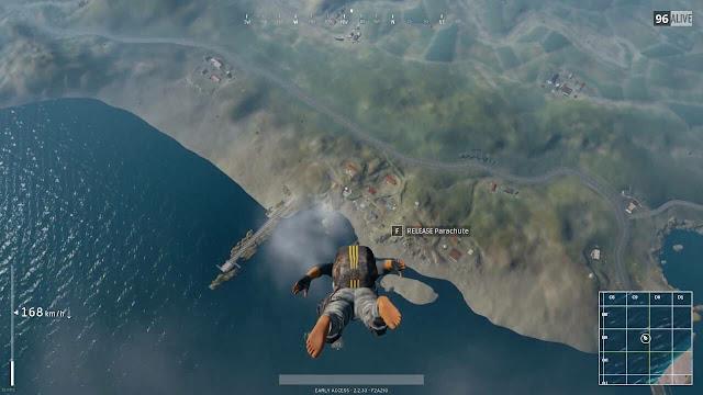 Cara Mendarat Secepat Mungkin di PlayerUnknown's Battlegrounds