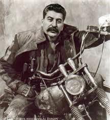 Lustige Bilder Josef Stalin als Rocker Spaßbilder