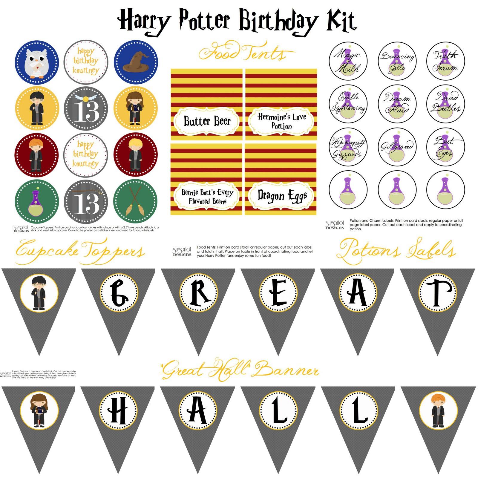 Sugartotdesigns Harry Potter Birthday Party