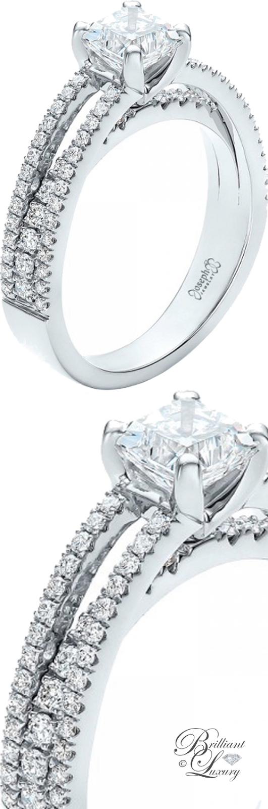 Brilliant Luxury ♦ Custom Split Shank Diamond Engagement Ring