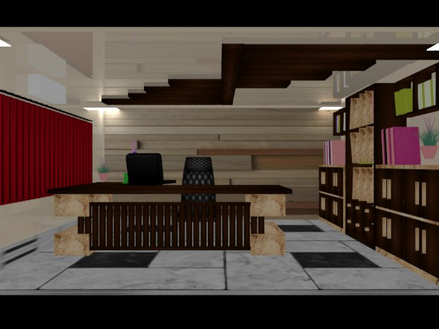 Foundation dezin decor vray office cabin design 2 1 for Office cabin design