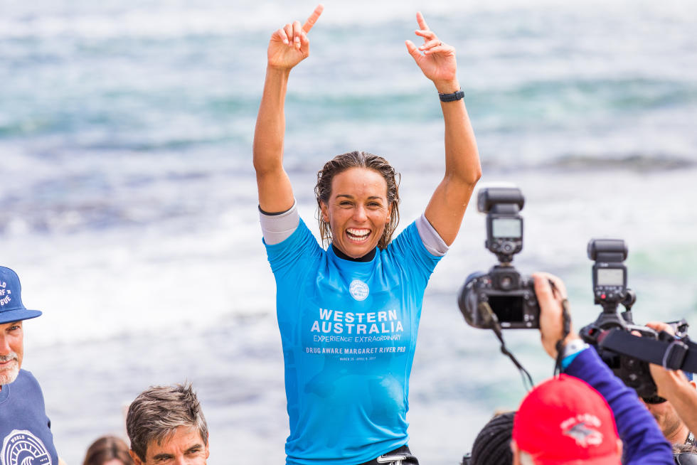 6 Sally Fitzgibbons Drug Aware Margaret River Pro foto WSL Matt Dunbar