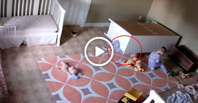 Toddler Saves His Twin Brother After A Large Dresser Toppled Over Him—A Real Hero!