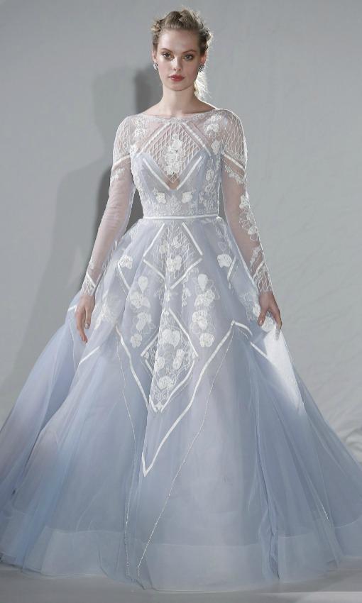 Vestido de novia celeste