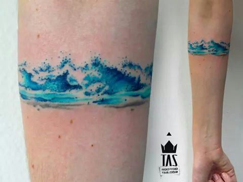 Watercolor Wave Tattoos