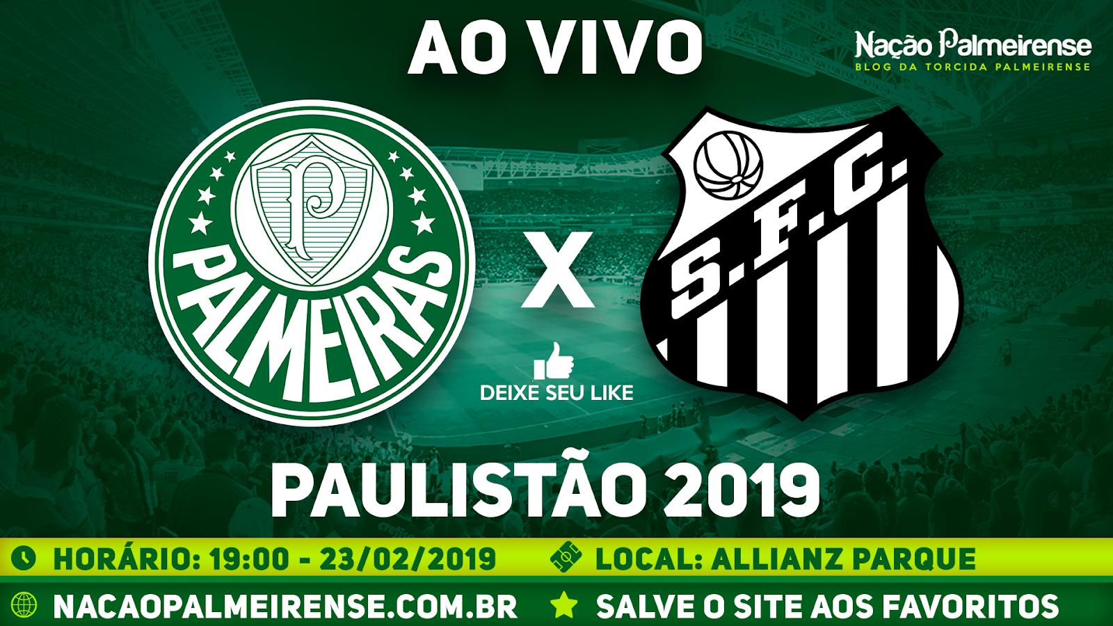 Assistir Palmeiras x Santos Ao Vivo