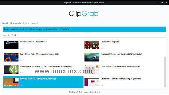 how to install clipgrab youtube downloader on Ubuntu or Linux Mint