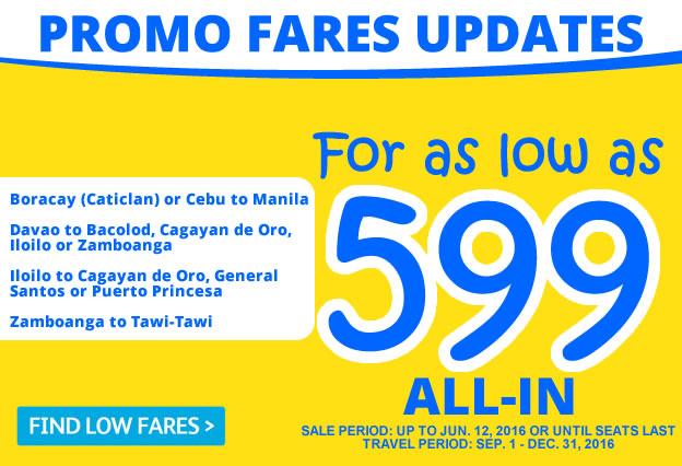 Seat Sale Promo 599 Manila to Boracay 2016