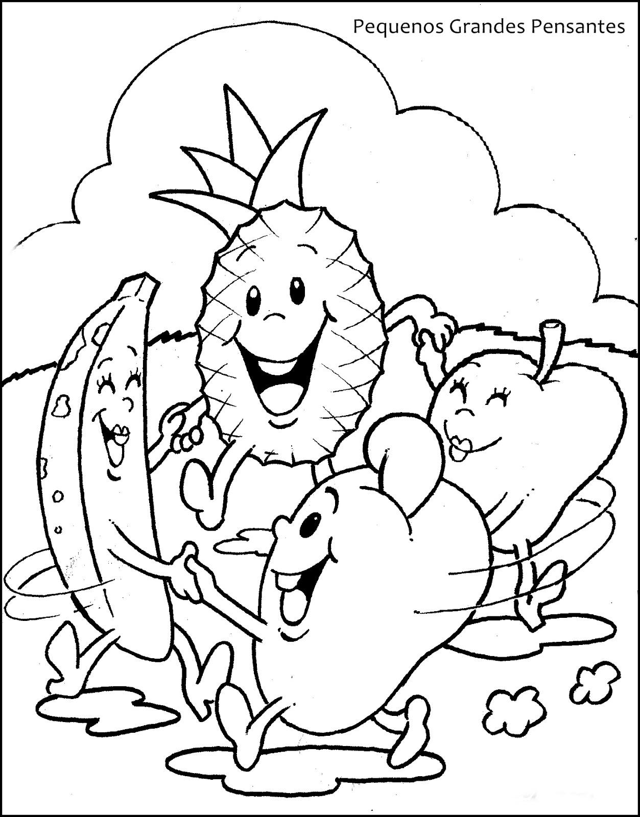 Pequenos Grandes Pensantes Desenhos De Frutas Para Imprimir E