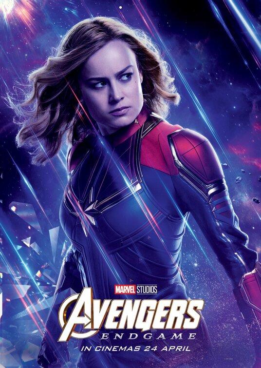 Captain Marvel Avengers Endgame poster
