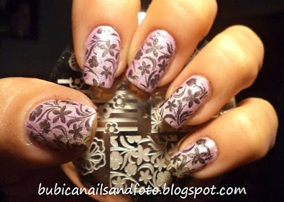 Born pretty BP65 flowers nails