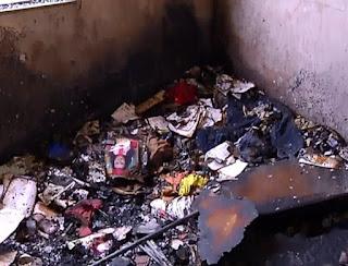Homem toca fogo na própria casa, matando esposa e enteados