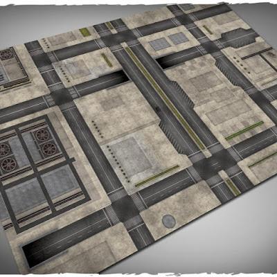 Wargames terrain mat – Cityscape #2