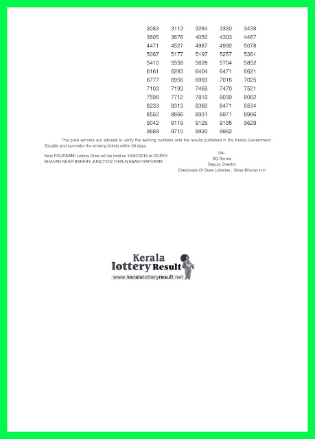 kerala lottery, kerala lottery result, kerala lottery result today, kerala lottery results 03-02-2019 POURNAMI LOTTERY result RN-377