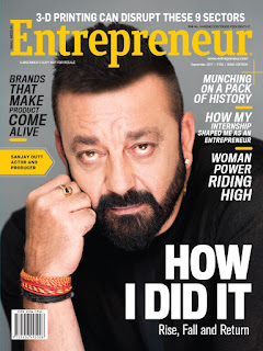 Sanjay Dutt's first magazine cover in 4 years where he candidly talks about his life in jail; #babaisback with Entrepreneur India Magazine