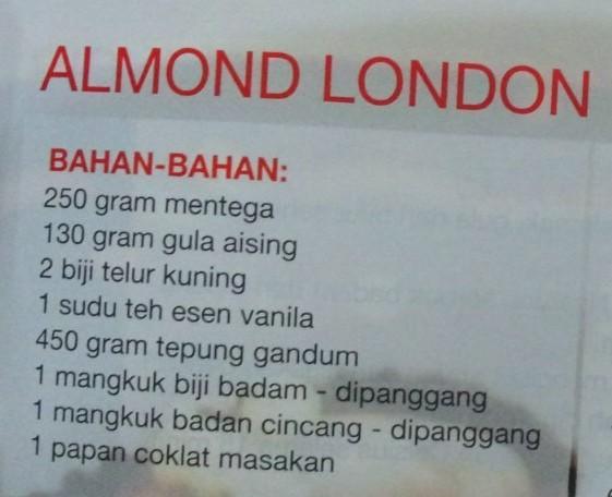resepililymaria  almond london Resepi Biskut Bangkit Nestum Enak dan Mudah