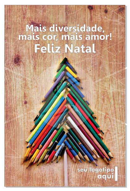 Cartão de Natal com árvore de Natal