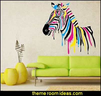 Color Wall Vinyl Sticker Decals Decor Art Bedroom Design Mural Horse Zebra Poster Animal