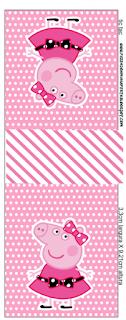 Etiqueta Tic Tac para imprimir gratis de Miss Peppa Pig.