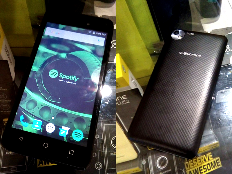CloudFone GO SP Spotted, Comes With Free Spotify Earphones For PHP 2299