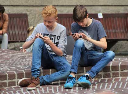 students and their phone