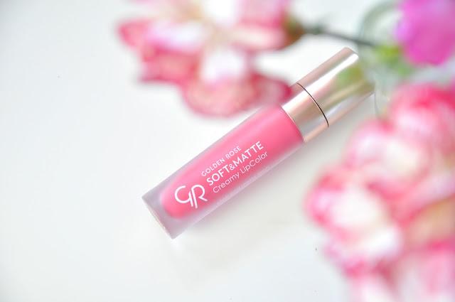 recenzja matowej pomadki golden rose soft&matte creamy lipcolor