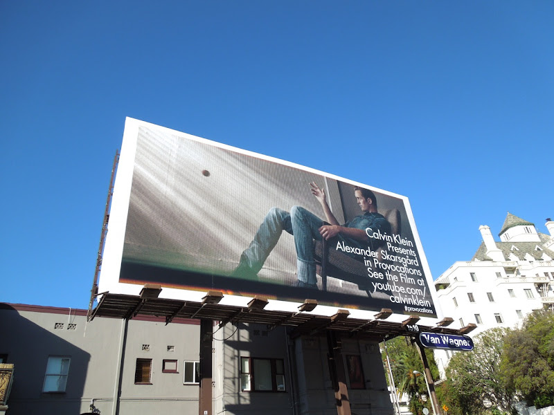 Calvin Klein Alex Skarsgård Provocations billboard