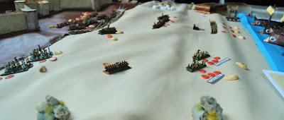 A mass battle in play