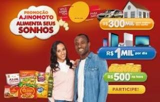 Cadastrar Promoção Ajinomoto Alimenta Seus Sonhos 300 Mil Reais Realizar Sonho www.promoajinomoto.com.br